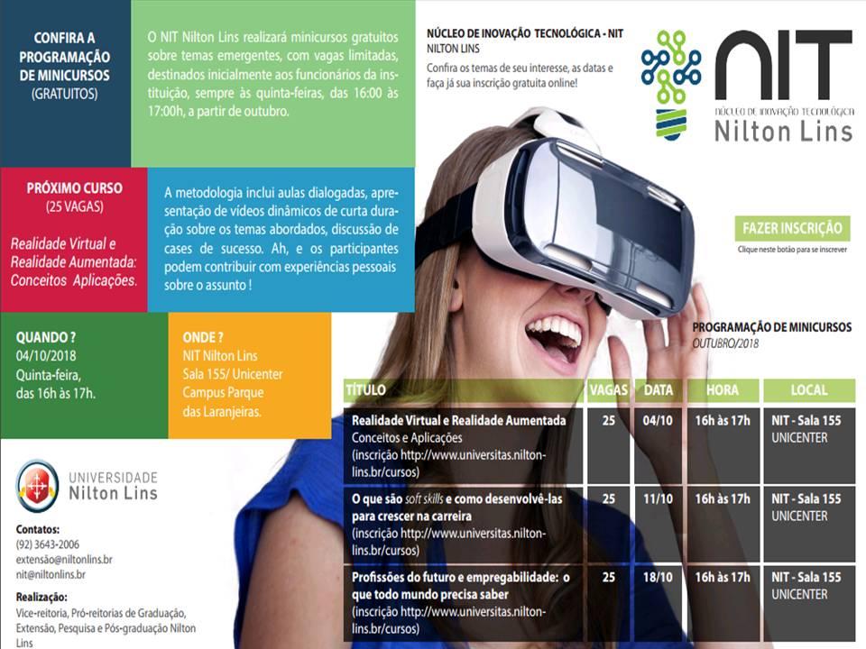 Universidade Nilton Lins oferece mini cursos gratuitos a partir de Outubro