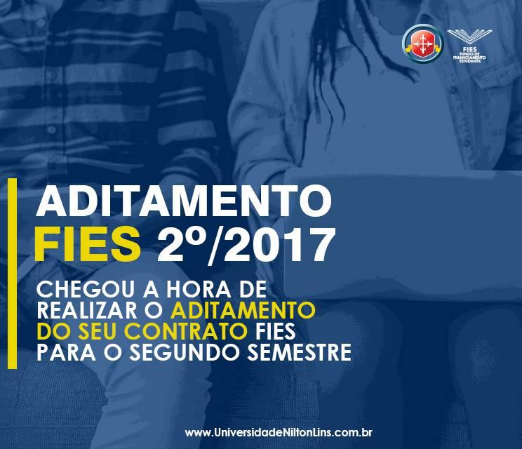 Aditamento FIES 2017/2