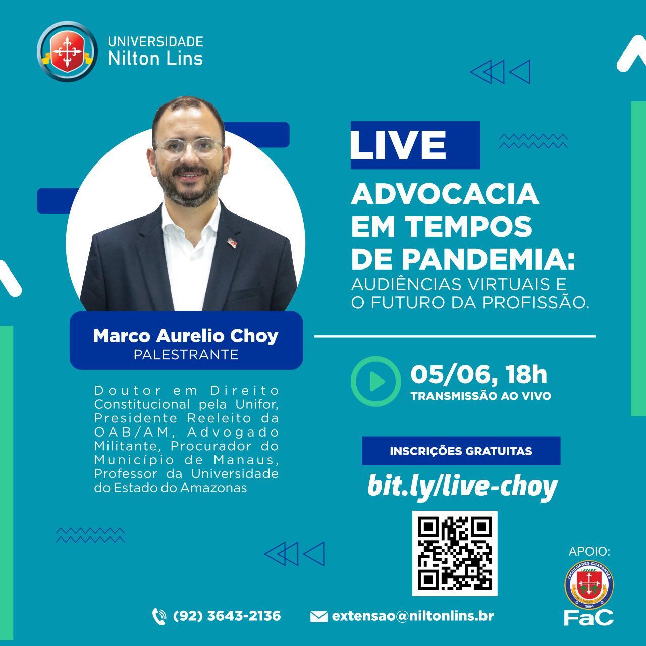 Título: Universidade Nilton Lins promove Live sobre: Advocacia em tempos de pandemia