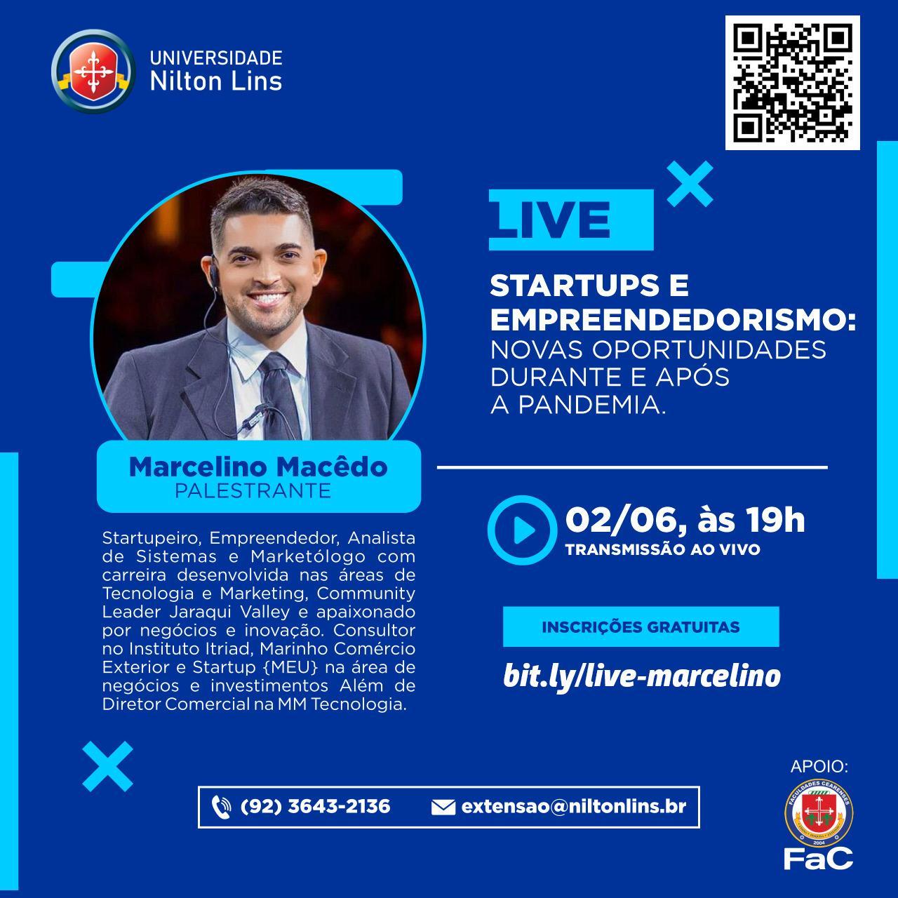 Universidade Nilton Lins Promove Live sobre Startups e Empreendedorismo.