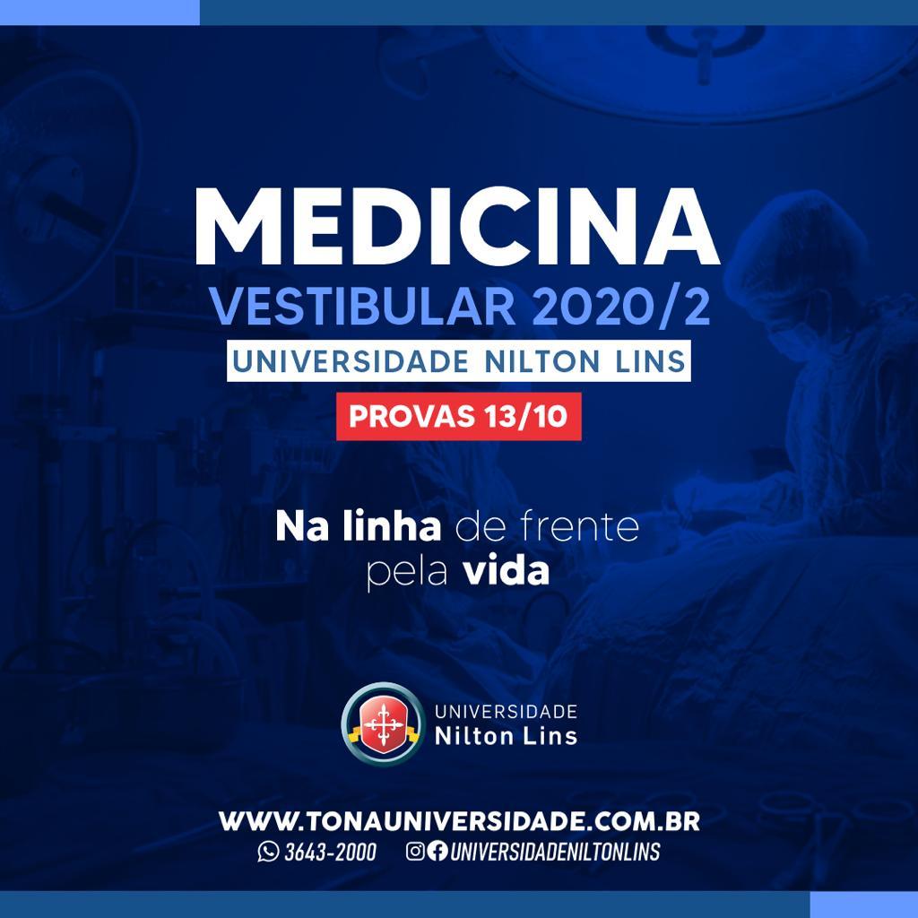 INSCRIÇÕES ABERTAS DO VESTIBULAR DE MEDICINA 2021.1 DA UNIVERSIDADE NILTON LINS