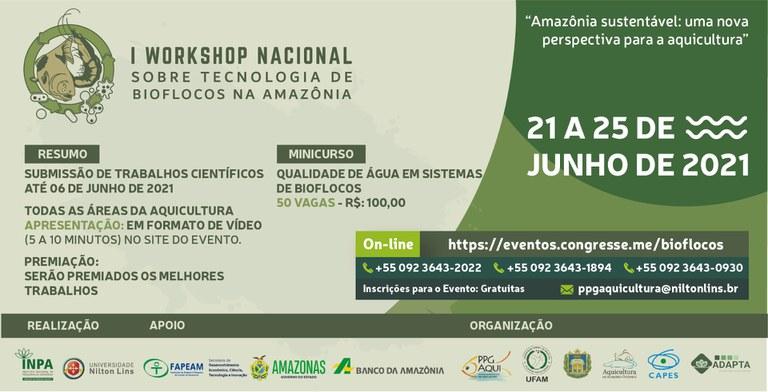 Workshop debate tecnologia de bioflocos para aumentar produtividade de peixes Amazônicos